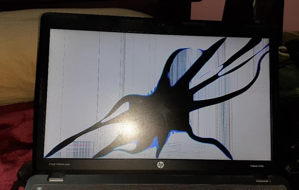 شاشة  لابتوب HP Probook اتحرقت عايز اصلحها او اغيرها
